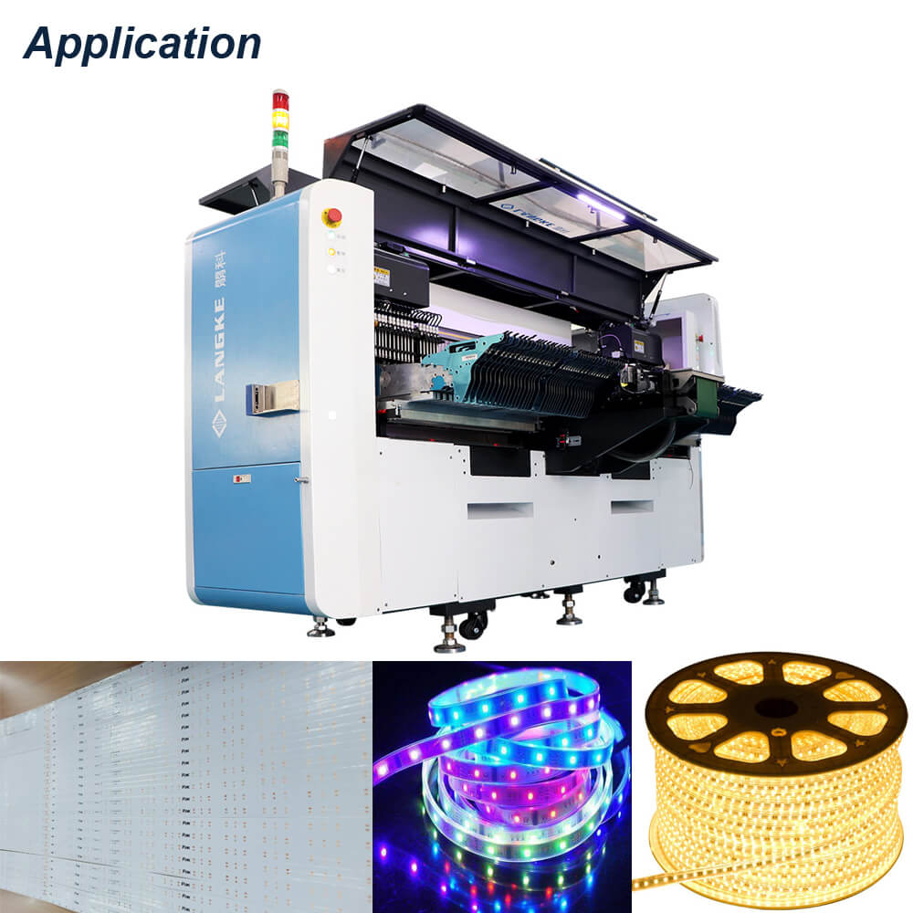 L255 Limitless length smd led soft strip chip placement machine
